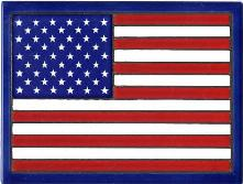 American Flag Tile Made in the U.S.A.