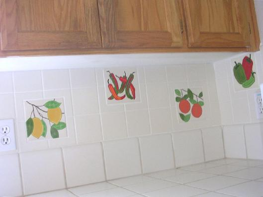 BESHEER ART TILE CAN BE COMBINED WITH NEARLY ANY SIZE TILE FOR A CUSTOM KITCHEN BACKSPLASH